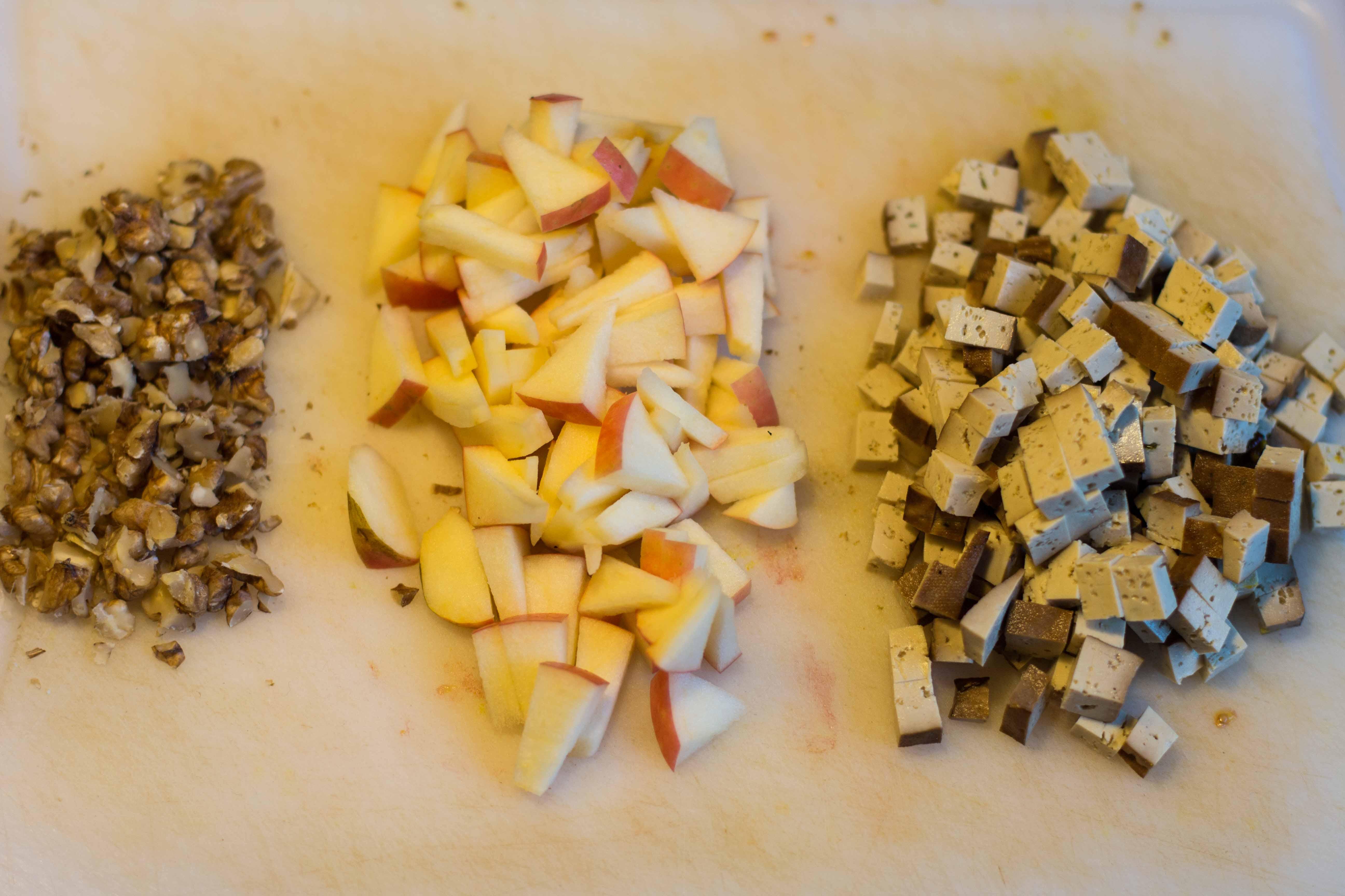 Apfel-Walnuss-Tofu