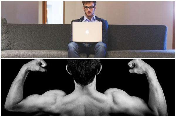 Sitzen und Kraftsport
