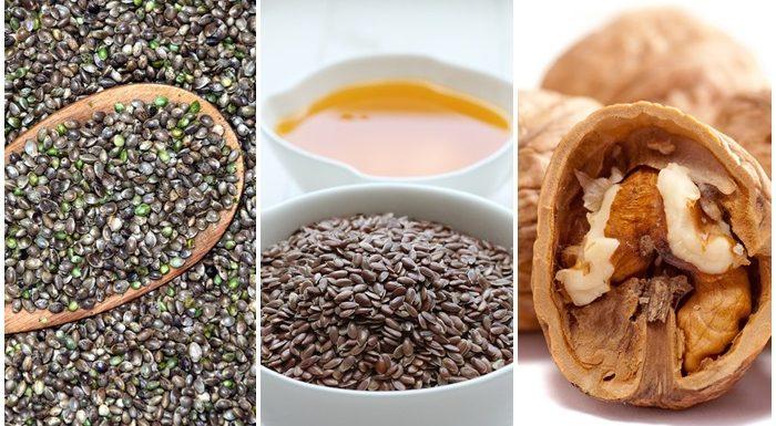 Omega-3-Fettsäuren in Hanfsamen, Leinsamen und Walnüssen
